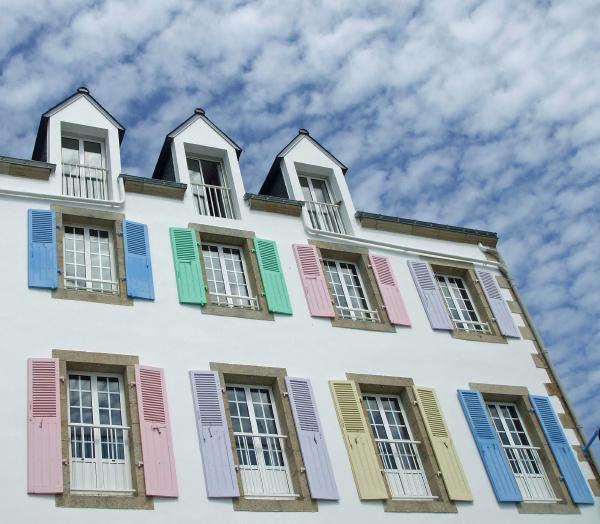 color ventana colorido fachada estilo de