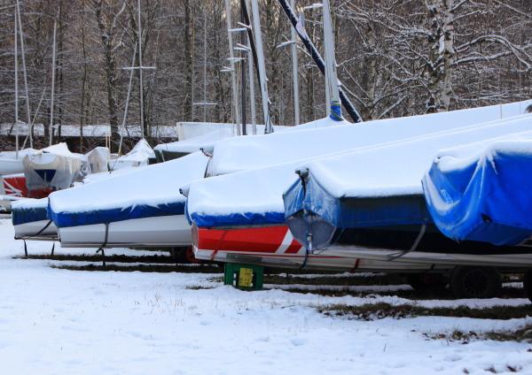 invierno maritimo nieve escarcha al aire