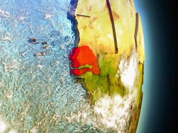 espacio ciencia africa ilustracion satelite pais