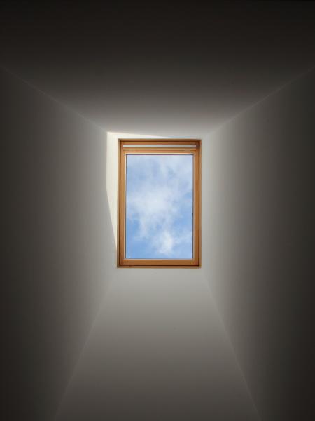 cielo claro y azul desde la