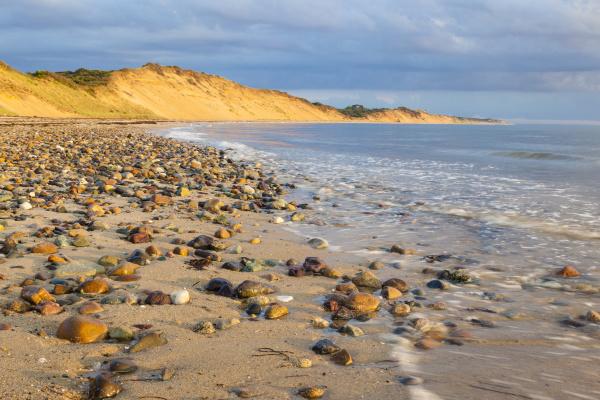 marea baja en duck harbor beach