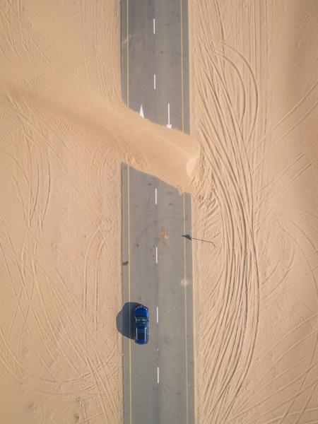 vista aerea de la carretera cubierta
