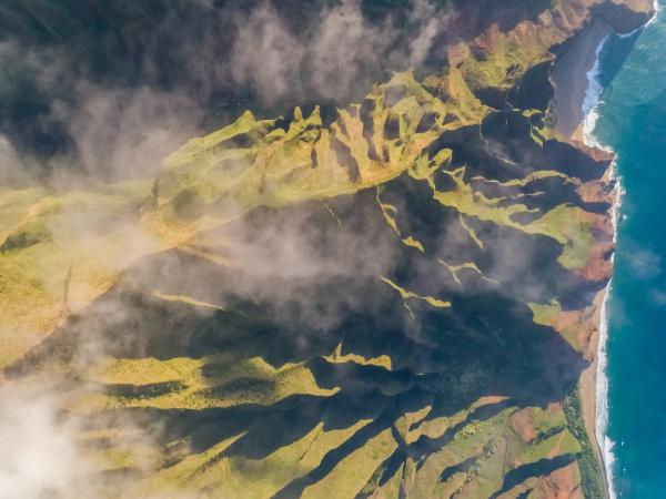 vista aerea de la formacion montanyosa