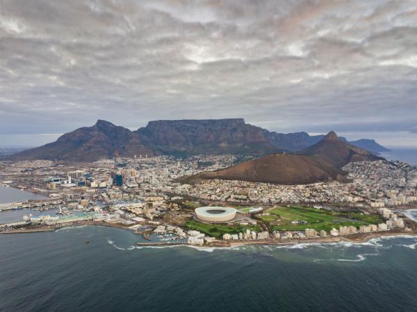 vista panoramica aerea del suburbio de