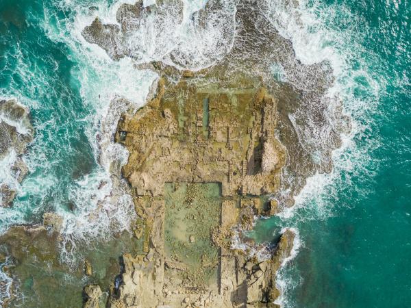 vista aerea de las ruinas de