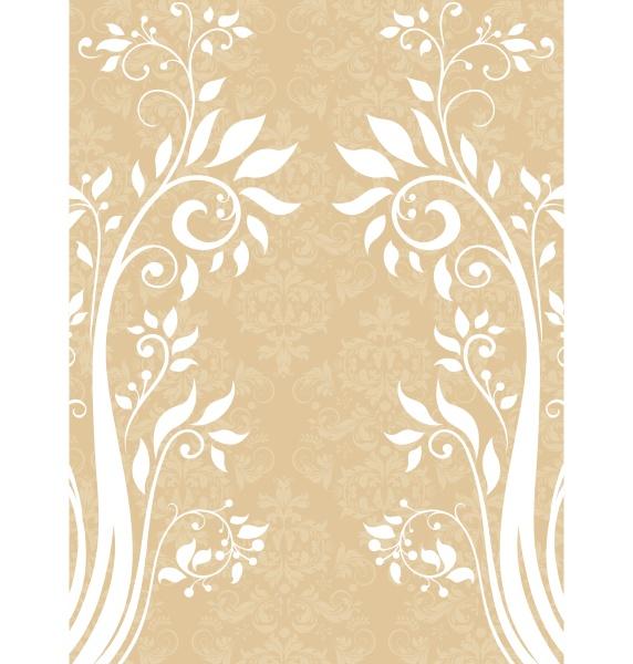 tarjeta de invitacion de damasco vintage