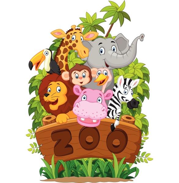colección, ilustrativa, de, animales, del, zoológico - 27611475