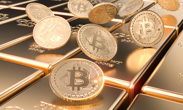 varios motes de bitcoin en barras