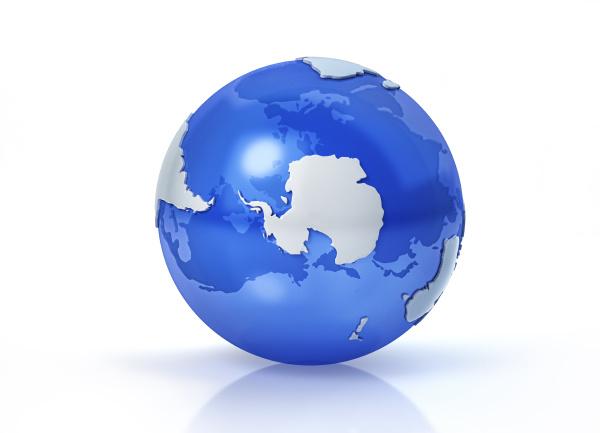 globo terraqueo estilizado vista del polo