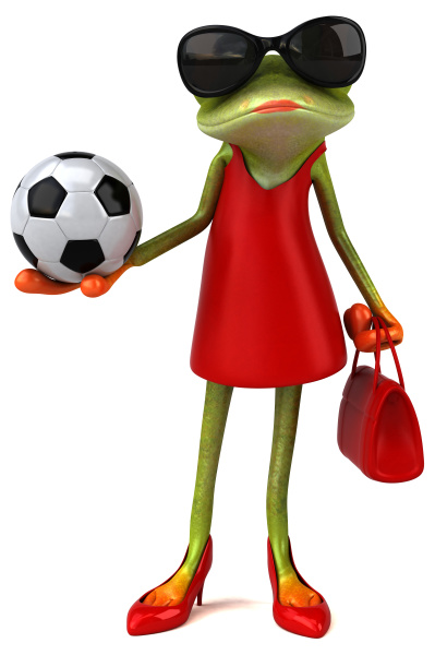 fun, frog, -, 3d, illustration - 28217532