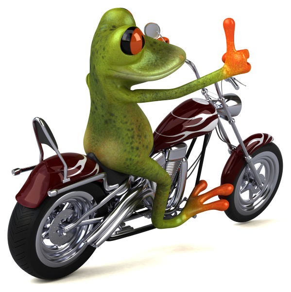fun, frog, on, a, motorcycle, - 28217729