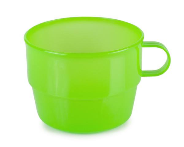 vaso de plastico verde