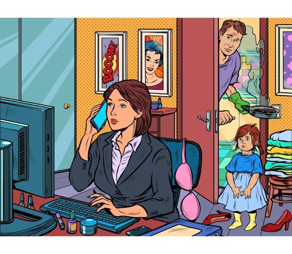 mujer trabajar en casa independiente epidemia