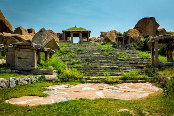ruinas antiguas en hampi india