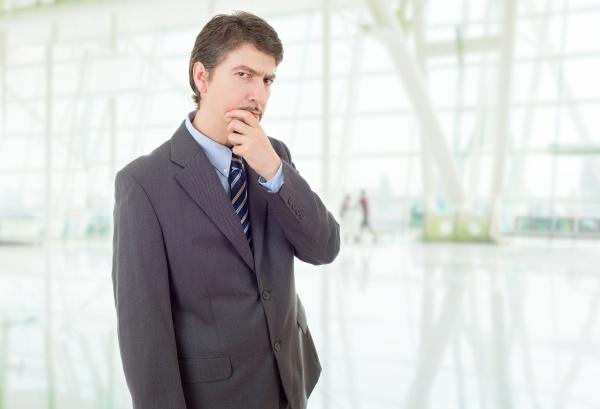 pensamiento de hombre de negocios