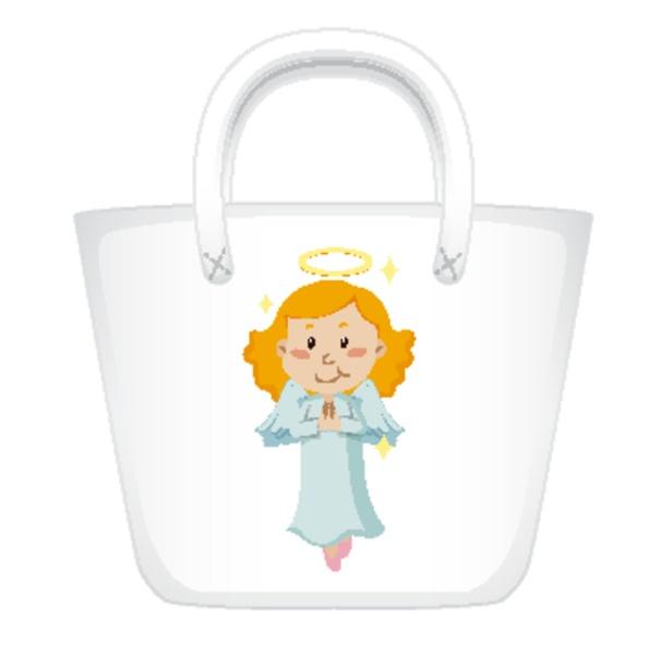 disenyo de bolso con angel grafico