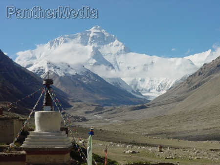 monasterio tibet alto monastico montanya paisaje