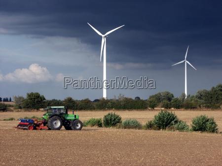 la energia eolica y la agricultura