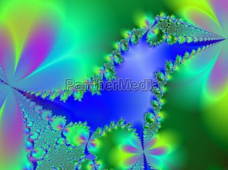 azul verde fractal computadoras computadora ordenador