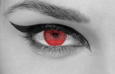 mujer perfil retrato ojo organo hombre