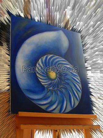 azul pintura caracol dedicacion ocio color
