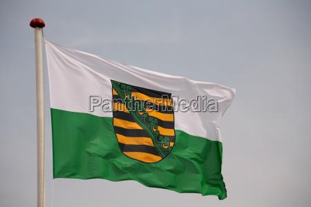 bandera de sajonia