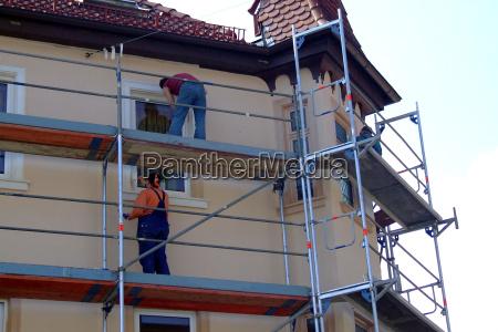 casa construccion hombres hombre artesano edificio