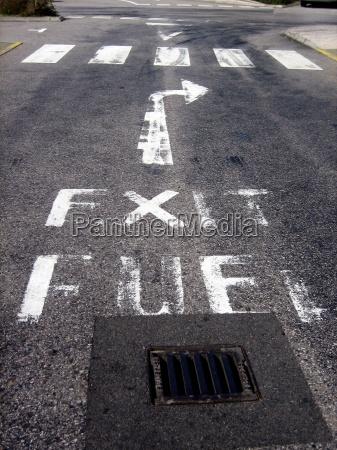 salida de combustible