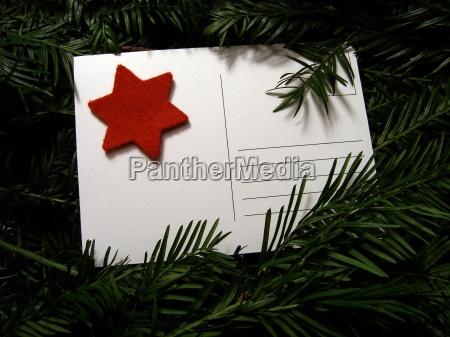advenimiento tarjeta postal correo diciembre puesto