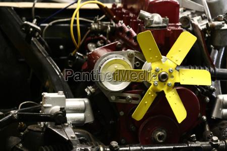 fan in vintage car
