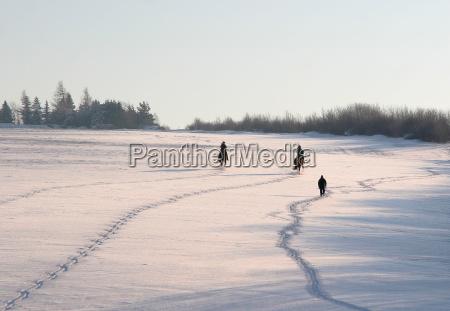 pistas en la nieve