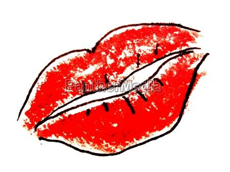 mujer boca labios ilustracion dibujo foto