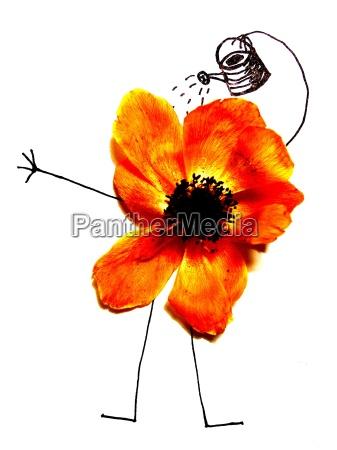 ocio jardin planta flor flores ilustracion
