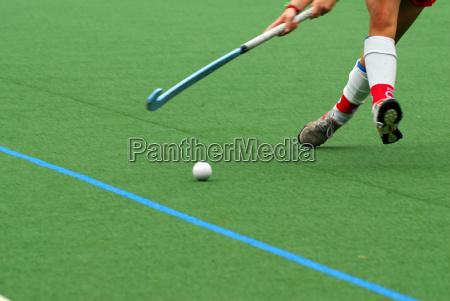 escena de hockey sobre hierba