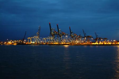 harbor in rotterdam