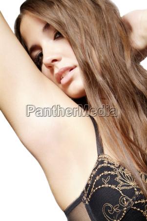 woman with bra