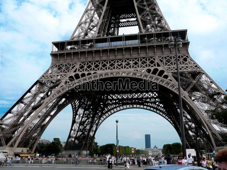 monumento nube vista paris torre eiffel