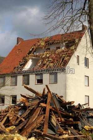 los danyos del huracan en steinfurt