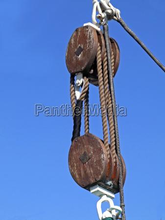 cuerda cabrestante tirar polea jale tire