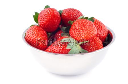 tazon con fresas