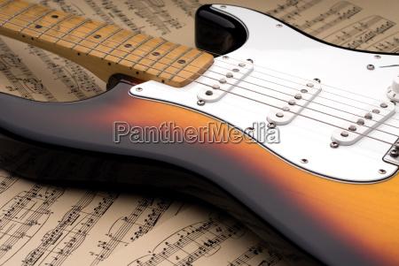 madera electrico guitarra cadena arce sucio
