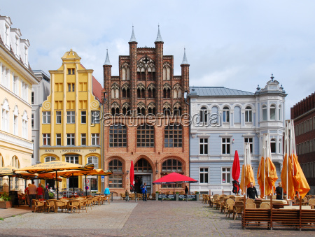 los edificios de la ciudad hanseatica