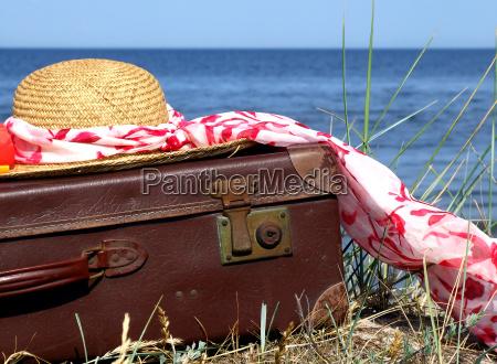 viaje antiguo reiselust sombrero de paja