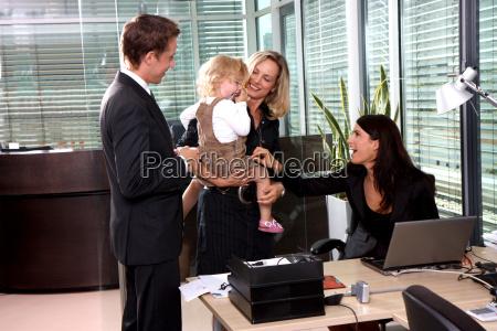 madre en el trabajo