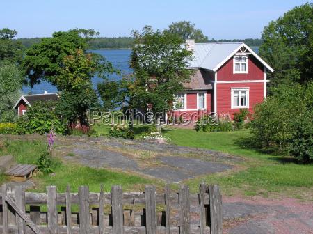 house building garden sweden framehouse holiday