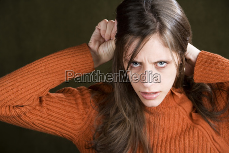 distraught young woman
