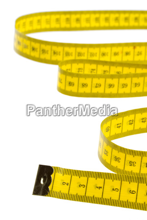 cinta metrica amarilla aislada
