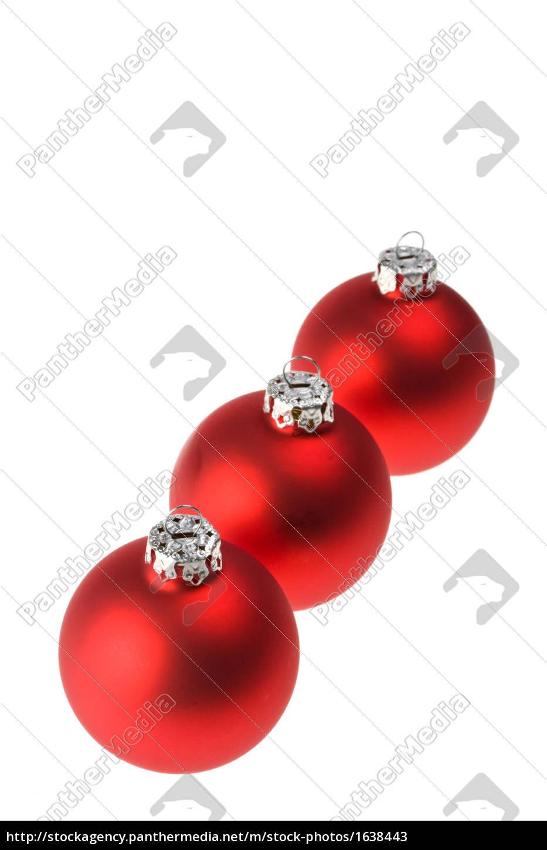 Rote Christbaumkugeln.Royalty Free Imagen 1638443 Drei Rote Christbaumkugeln Isoliert