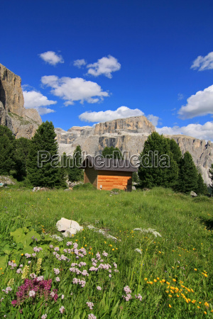 dolomitas alpes refugios de montanya prado