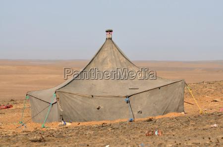 bedouin tent in the sahara morocco